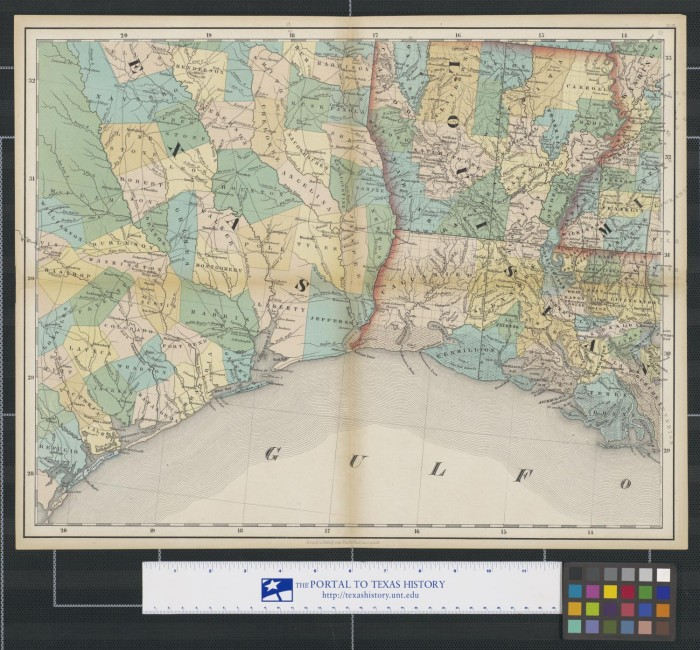 Map Of South East Texas.Map Of Southeast Texas Louisiana And Western Mississippi The