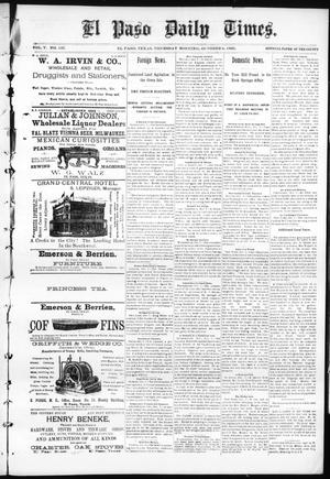 Primary view of object titled 'El Paso Daily Times. (El Paso, Tex.), Vol. 5, No. 137, Ed. 1 Thursday, October 8, 1885'.