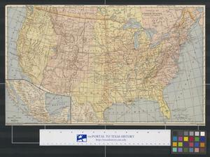 Primary view of object titled 'Commercial Map of the United States, Canada and Mexico'.