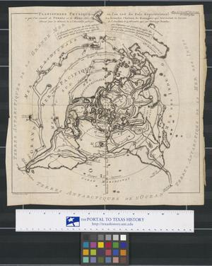 Primary view of object titled 'Planisphere physique, où l'on voit du Pole Septentrional ce que l'on connoit de terres et de mers : avec les grandes chaines de montagnes qui traversent le globe'.