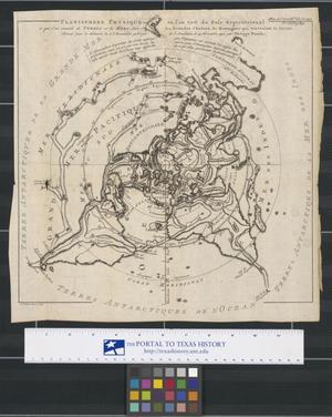 Primary view of Planisphere physique, où l'on voit du Pole Septentrional ce que l'on connoit de terres et de mers : avec les grandes chaines de montagnes qui traversent le globe