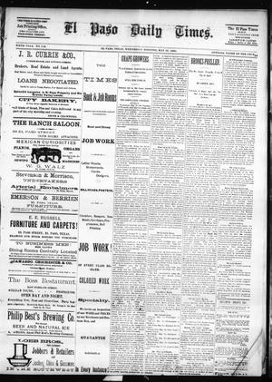 Primary view of object titled 'El Paso Daily Times. (El Paso, Tex.), Vol. SIXTH YEAR, No. 118, Ed. 1 Wednesday, May 19, 1886'.