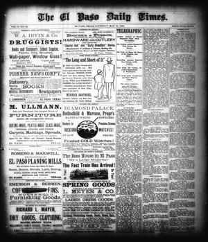 Primary view of object titled 'The El Paso Daily Times. (El Paso, Tex.), Vol. 2, No. 62, Ed. 1 Saturday, May 12, 1883'.