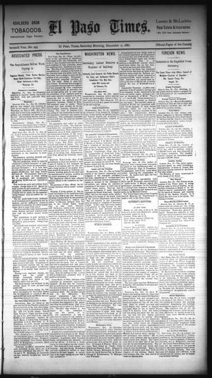 Primary view of object titled 'El Paso Times. (El Paso, Tex.), Vol. Seventh Year, No. 295, Ed. 1 Saturday, December 17, 1887'.