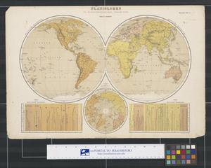 Primary view of object titled 'Panigloben in Homalographischer Projection'.