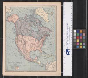 Primary view of object titled 'Political Map of North America.'.