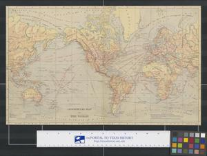 Primary view of object titled 'Commercial Map of the World'.