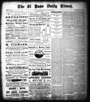 Primary view of object titled 'The El Paso Daily Times. (El Paso, Tex.), Vol. 2, No. 64, Ed. 1 Tuesday, May 15, 1883'.