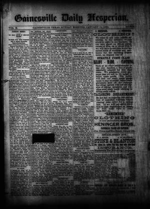 Primary view of object titled 'Gainesville Daily Hesperian. (Gainesville, Tex.), Vol. 10, No. 346, Ed. 1 Sunday, January 12, 1890'.