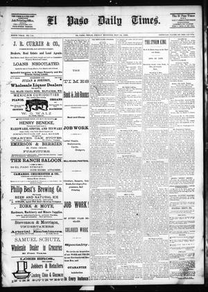 Primary view of object titled 'El Paso Daily Times. (El Paso, Tex.), Vol. SIXTH YEAR, No. 114, Ed. 1 Friday, May 14, 1886'.