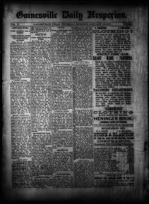 Primary view of object titled 'Gainesville Daily Hesperian. (Gainesville, Tex.), Vol. 10, No. 349, Ed. 1 Thursday, January 16, 1890'.
