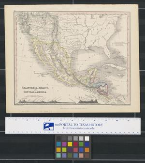 Primary view of object titled 'California, Mexico, and Central America.'.