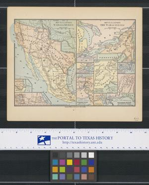 Primary view of object titled 'Map to Illustrate War with Mexico'.