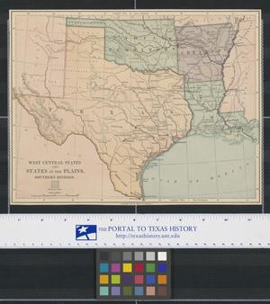 Primary view of object titled 'West Central States and States of the Plains: Southern Division'.
