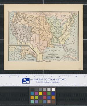 Primary view of object titled 'Territorial Development of the United States'.