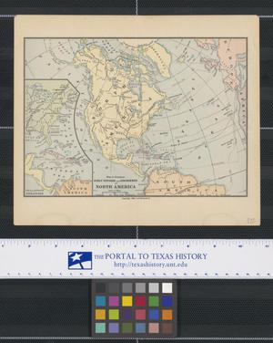 Primary view of object titled 'Map to Illustrate Early Voyages and Discoveries of North America'.