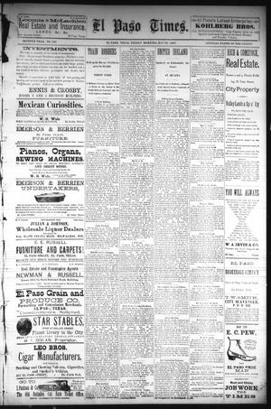 Primary view of object titled 'El Paso Times. (El Paso, Tex.), Vol. Seventh Year, No. 116, Ed. 1 Friday, May 20, 1887'.