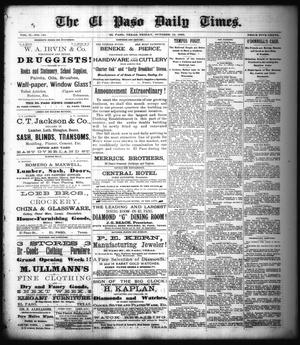 Primary view of object titled 'The El Paso Daily Times. (El Paso, Tex.), Vol. 2, No. 191, Ed. 1 Friday, October 12, 1883'.