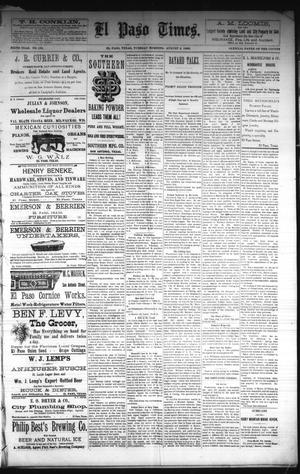 Primary view of object titled 'El Paso Times. (El Paso, Tex.), Vol. Sixth Year, No. 183, Ed. 1 Tuesday, August 3, 1886'.