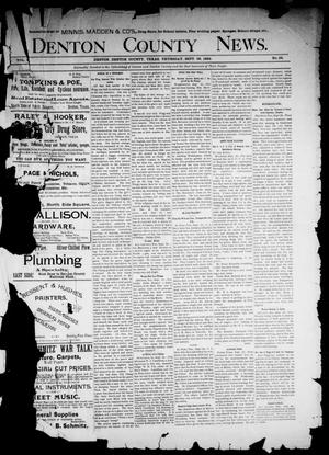 Primary view of object titled 'Denton County News. (Denton, Tex.), Vol. 1, No. 22, Ed. 1 Thursday, September 29, 1892'.