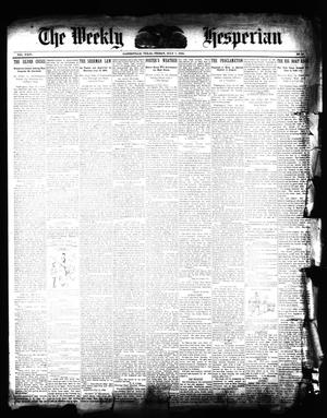 Primary view of object titled 'The Daily Hesperian (Gainesville, Tex.), Vol. 24, No. 126, Ed. 1 Friday, July 7, 1893'.