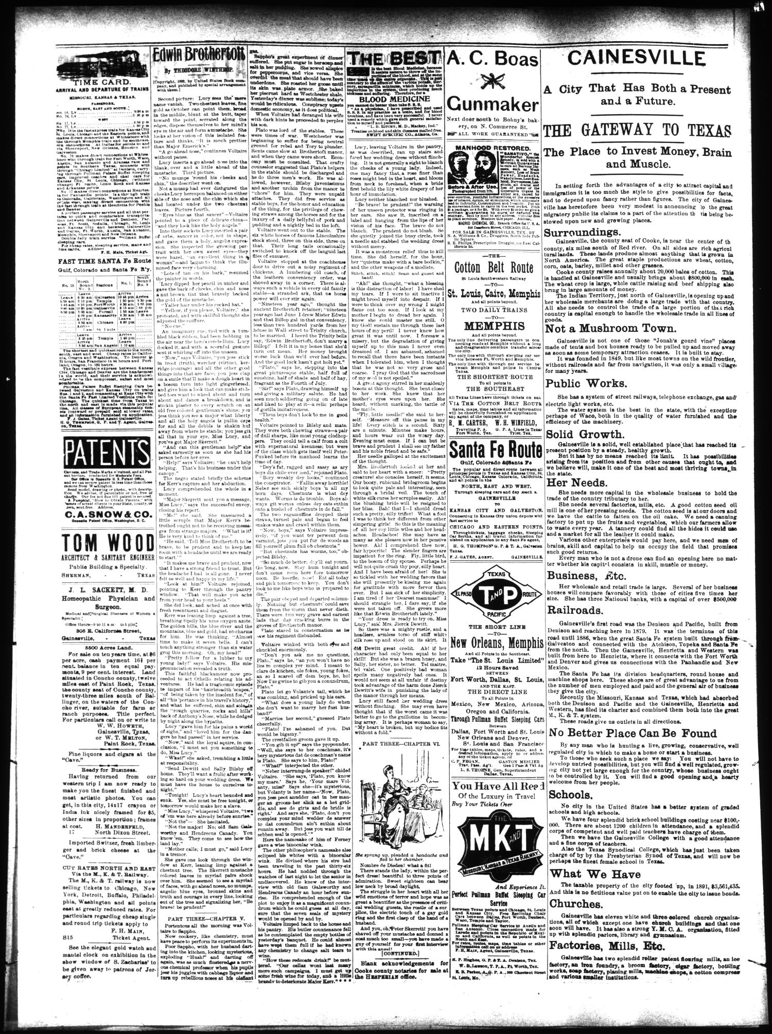 The Daily Hesperian (Gainesville, Tex.), Vol. 13, No. 234, Ed. 1 Friday, September 9, 1892                                                                                                      [Sequence #]: 4 of 4
