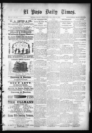Primary view of object titled 'El Paso Daily Times. (El Paso, Tex.), Vol. 4, No. 315, Ed. 1 Tuesday, April 28, 1885'.
