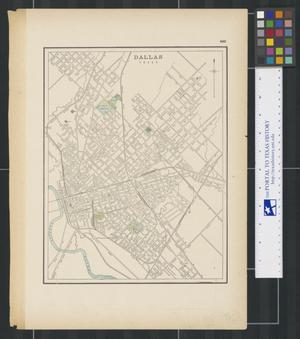 Primary view of object titled '[Maps of Dallas, Texas, and Central South America]'.