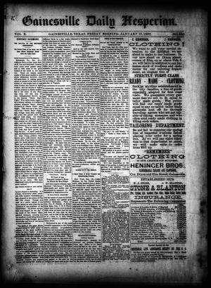 Primary view of object titled 'Gainesville Daily Hesperian. (Gainesville, Tex.), Vol. 10, No. 350, Ed. 1 Friday, January 17, 1890'.
