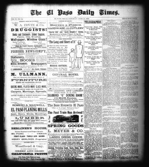 Primary view of object titled 'The El Paso Daily Times. (El Paso, Tex.), Vol. 2, No. 92, Ed. 1 Saturday, June 16, 1883'.