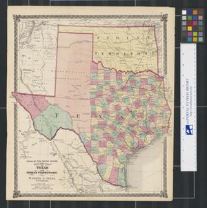 Primary view of object titled 'County Map of Texas and Indian Territory.'.