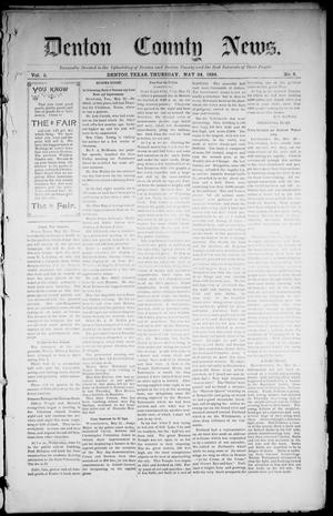 Primary view of object titled 'Denton County News. (Denton, Tex.), Vol. 3, No. 4, Ed. 1 Thursday, May 24, 1894'.