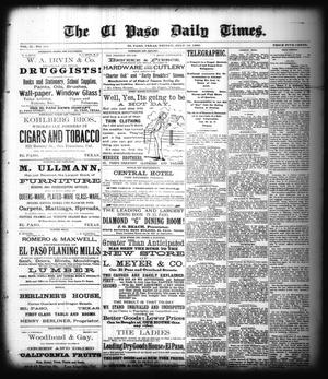 Primary view of object titled 'The El Paso Daily Times. (El Paso, Tex.), Vol. 2, No. 111, Ed. 1 Friday, July 13, 1883'.