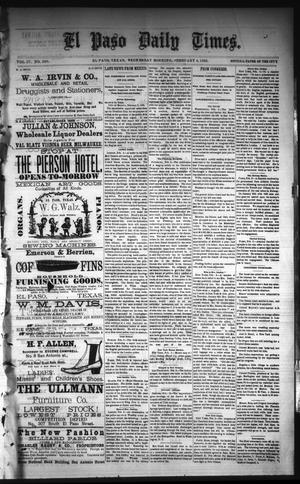 Primary view of object titled 'El Paso Daily Times. (El Paso, Tex.), Vol. 4, No. 250, Ed. 1 Wednesday, February 4, 1885'.