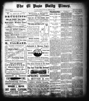 Primary view of object titled 'The El Paso Daily Times. (El Paso, Tex.), Vol. 2, No. 45, Ed. 1 Sunday, April 22, 1883'.