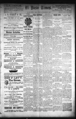 Primary view of object titled 'El Paso Times. (El Paso, Tex.), Vol. Sixth Year, No. 228, Ed. 1 Friday, September 24, 1886'.