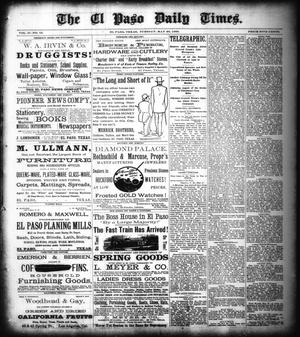 Primary view of object titled 'The El Paso Daily Times. (El Paso, Tex.), Vol. 2, No. 76, Ed. 1 Tuesday, May 29, 1883'.