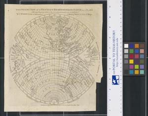 Primary view of object titled 'A new Projection of the Western Hemisphere of the Earth on a Plane'.