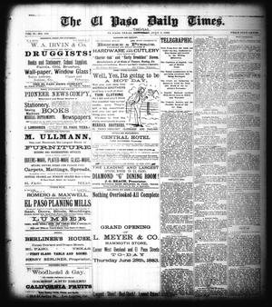 Primary view of object titled 'The El Paso Daily Times. (El Paso, Tex.), Vol. 2, No. 105, Ed. 1 Tuesday, July 3, 1883'.