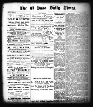 Primary view of The El Paso Daily Times. (El Paso, Tex.), Vol. 2, No. 101, Ed. 1 Thursday, June 28, 1883