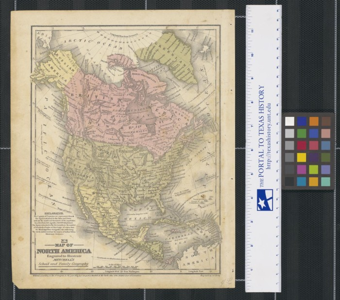 No. 4. Map of North America: Engraved to Illustrate Mitc's ... Illustrate Map on