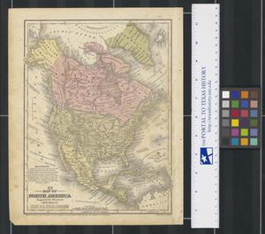 Primary view of object titled 'No. 4. Map of North America: Engraved to Illustrate Mitchell's School and Family Geography'.