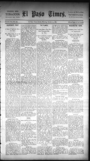 Primary view of object titled 'El Paso Times. (El Paso, Tex.), Vol. Seventh Year, No. 249, Ed. 1 Sunday, October 23, 1887'.