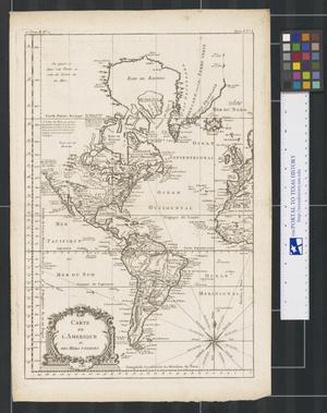 Primary view of Carte de l'Amerique et des Mers voisines