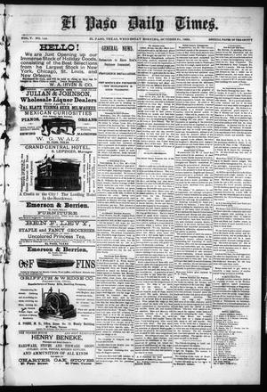 Primary view of object titled 'El Paso Daily Times. (El Paso, Tex.), Vol. 5, No. 148, Ed. 1 Wednesday, October 21, 1885'.