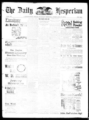 Primary view of The Daily Hesperian (Gainesville, Tex.), Vol. 15, No. 324, Ed. 1 Tuesday, February 27, 1894