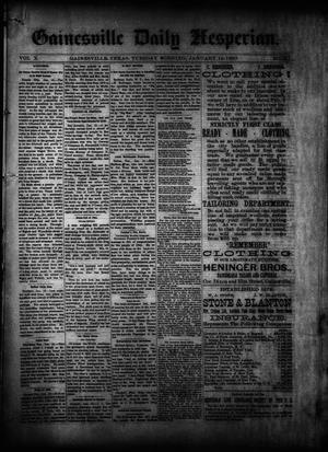 Primary view of object titled 'Gainesville Daily Hesperian. (Gainesville, Tex.), Vol. 10, No. 347, Ed. 1 Tuesday, January 14, 1890'.