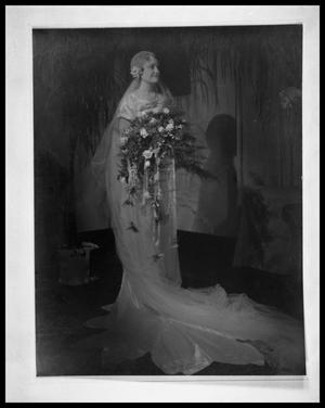 Primary view of object titled 'Portrait, Unknown Woman in Wedding Dress'.