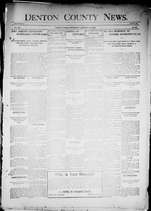 Primary view of object titled 'Denton County News. (Denton, Tex.), Vol. 12, No. 41, Ed. 1 Thursday, January 21, 1904'.