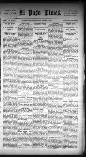 Primary view of object titled 'El Paso Times. (El Paso, Tex.), Vol. Seventh Year, No. 303, Ed. 1 Tuesday, December 27, 1887'.